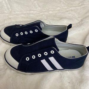 Gymboree Slip-On Shoes Boys Blue Navy Stripe